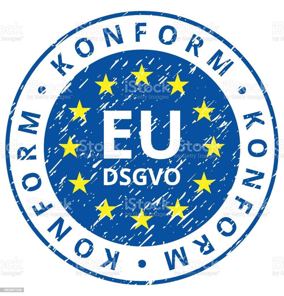 EU-DSGVO Konform illustration - Royalty-free Accessibility stock vector
