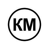 Konvertibilna Marka coin monochrome black and white icon.