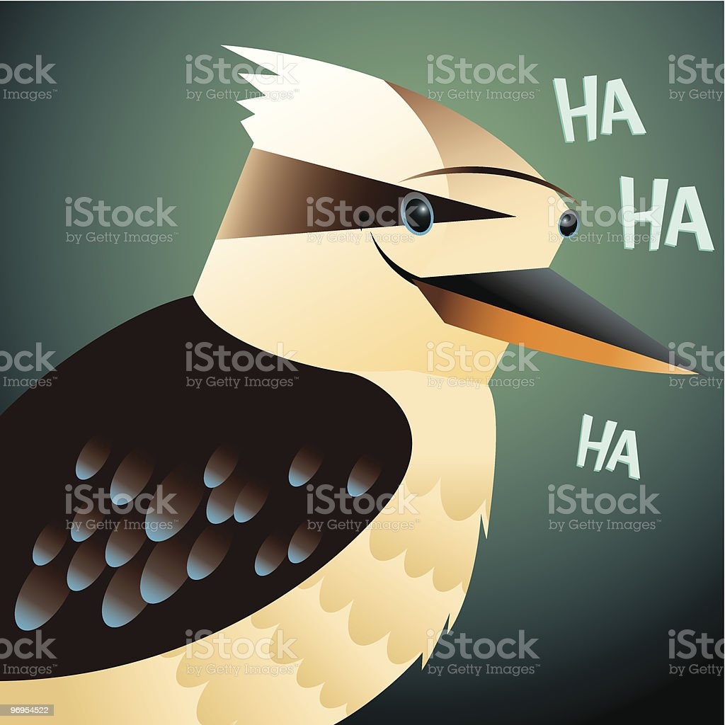 Kookaburra portrait royalty-free kookaburra portrait stock vector art & more images of anthropomorphic face