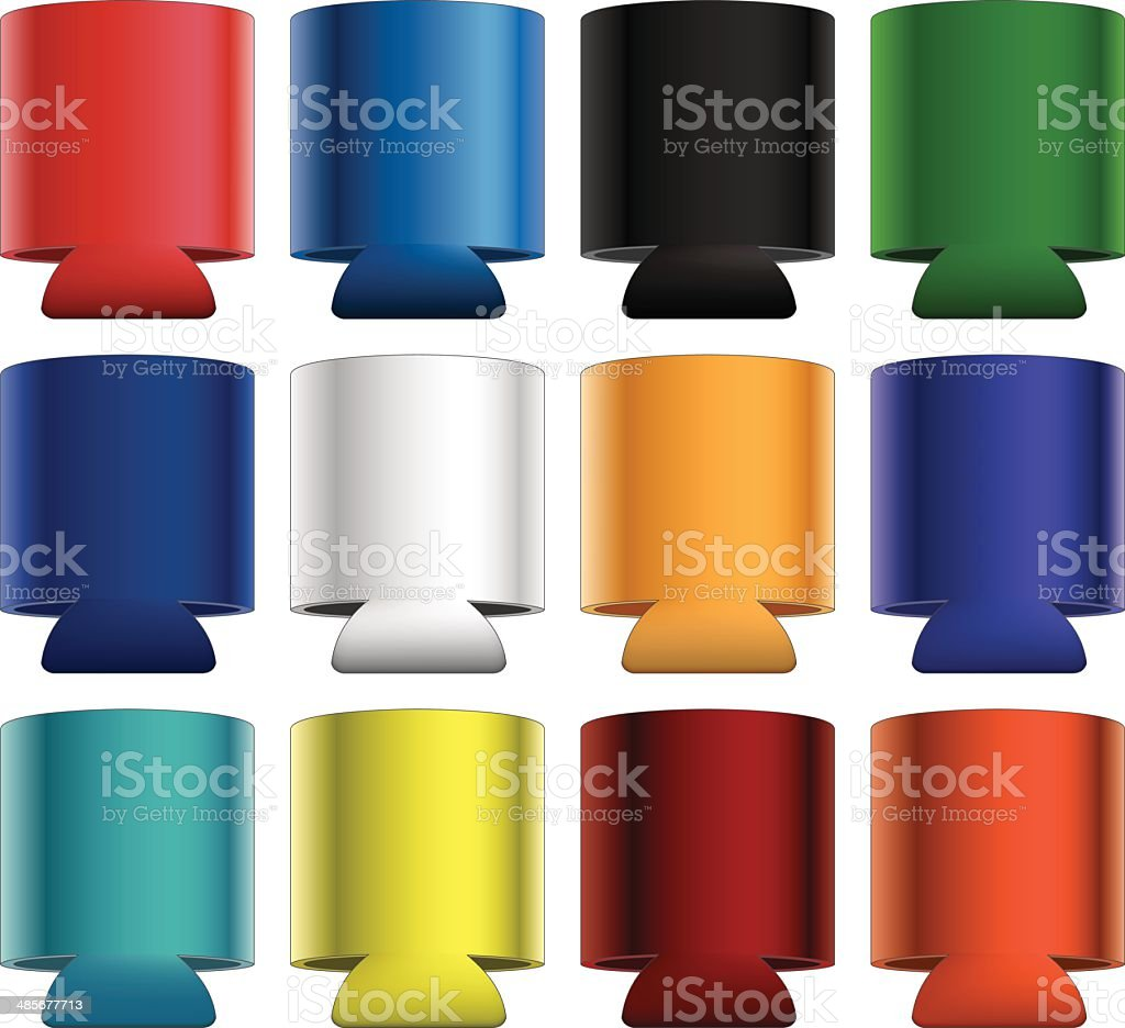 Koozies-Collapsible vector art illustration