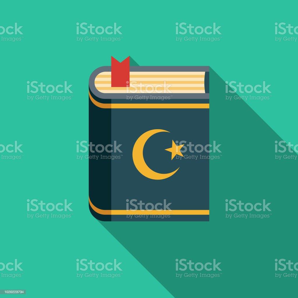 Koran Flat Design Turkey Icon