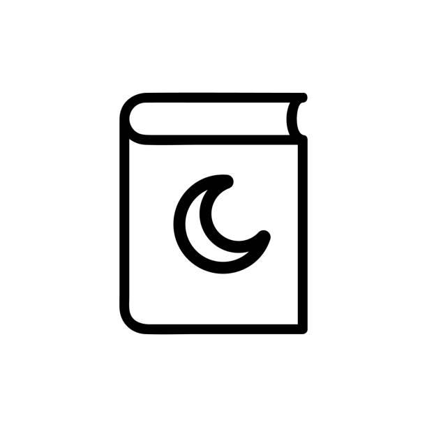 ilustrações de stock, clip art, desenhos animados e ícones de koran icon vector. isolated contour symbol illustration - cora��o
