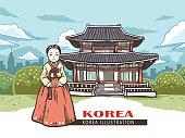 Korea concept illustration