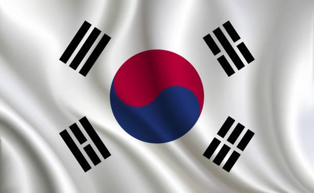 韓国旗の背景 - 韓国の国旗点のイラスト素材/クリップアート素材/マンガ素材/アイコン素材