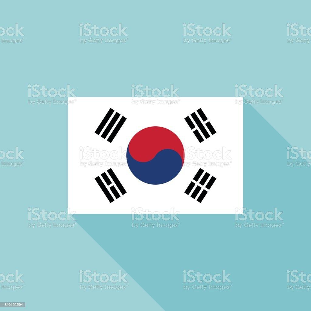 Bandeira da Coreia - ilustração de arte em vetor