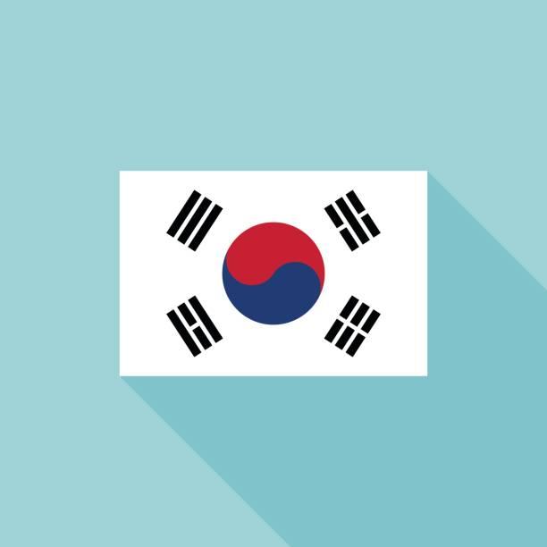 ilustrações, clipart, desenhos animados e ícones de bandeira da coreia - bandeira da coreia