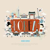 Korea travel poster