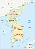 korean peninsula map