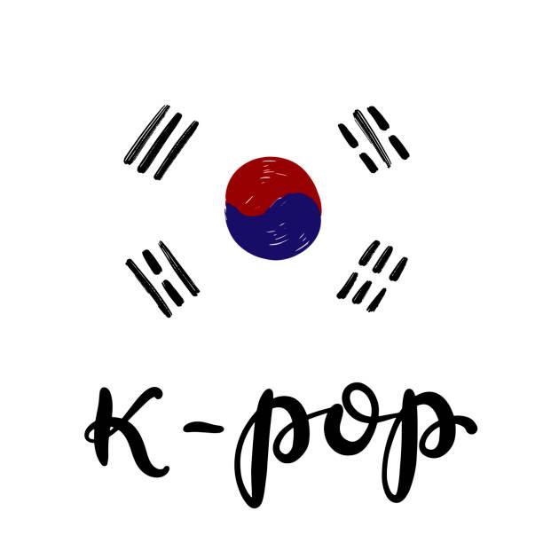bildbanksillustrationer, clip art samt tecknat material och ikoner med koreansk populärmusik stil. finger hjärta symbol - bts kpop
