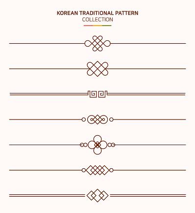 Korean traditional line.