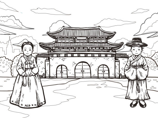 Best Hanbok Illustrations, Royalty-Free Vector Graphics