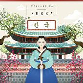Korean vintage poster
