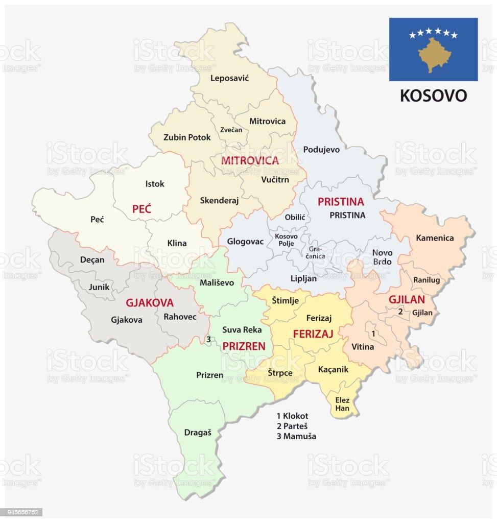 Kosovo Landkarte