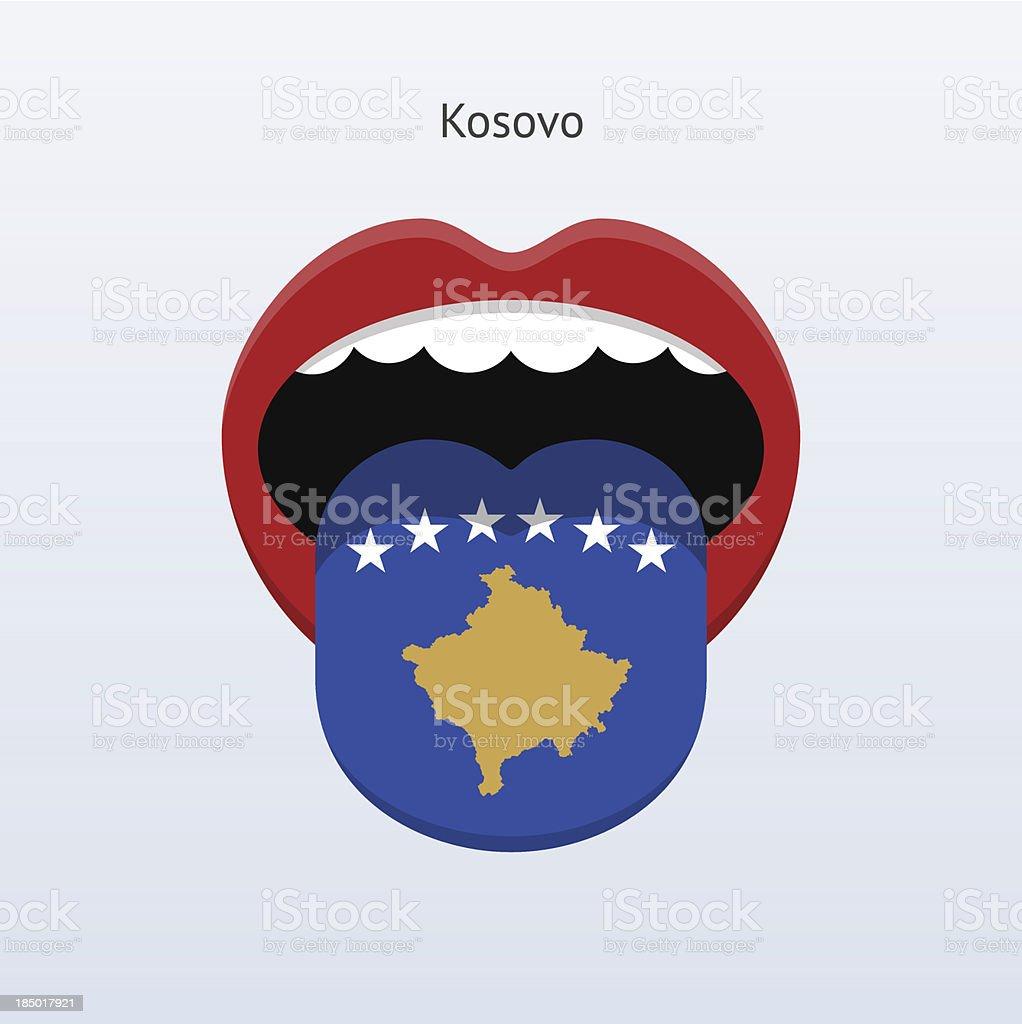 Kosovo language. Abstract human tongue. royalty-free stock vector art