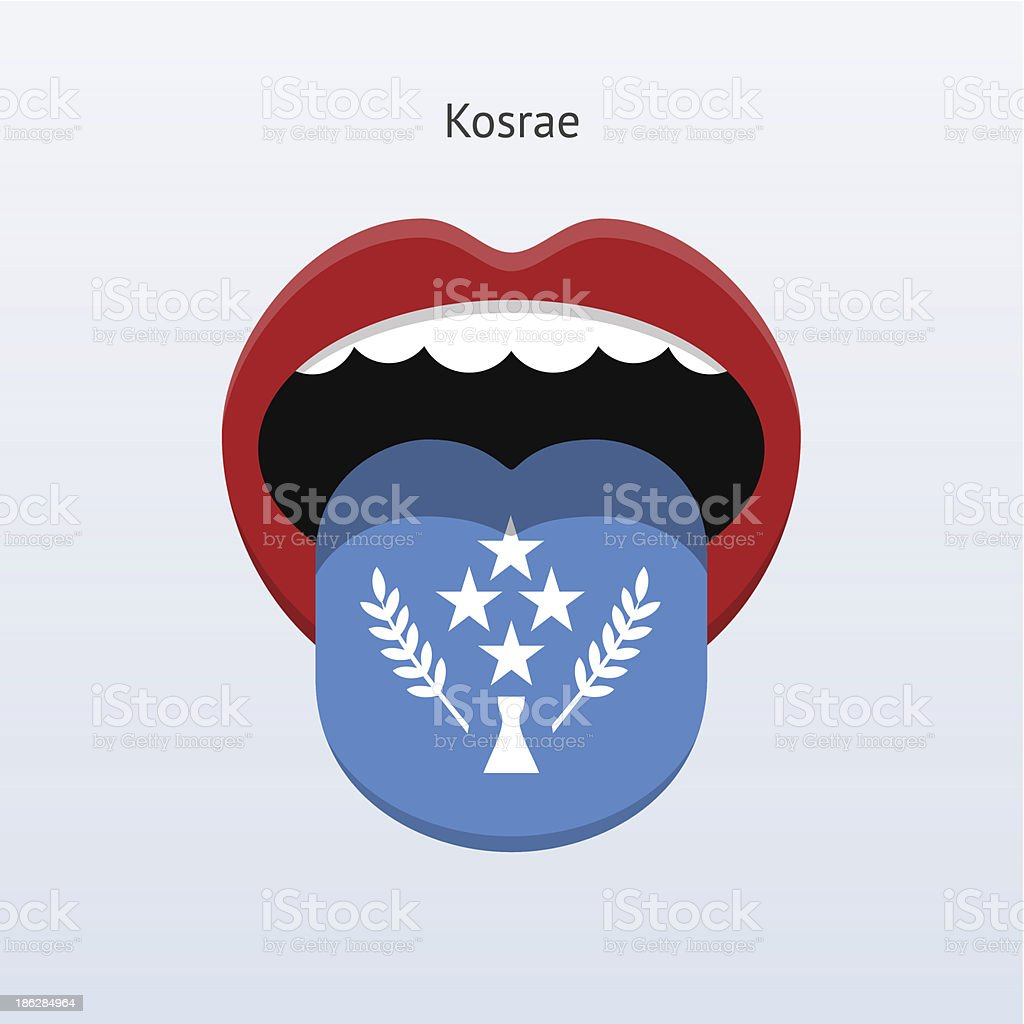 Kosrae language. Abstract human tongue. royalty-free stock vector art