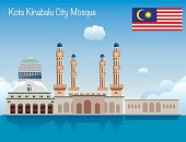 Vector Kota Kinabalu City Mosque