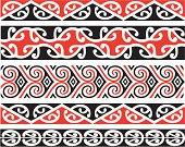 Kowhaiwhai Designs In Color