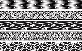 Seamless Kowhaiwhai patterns.