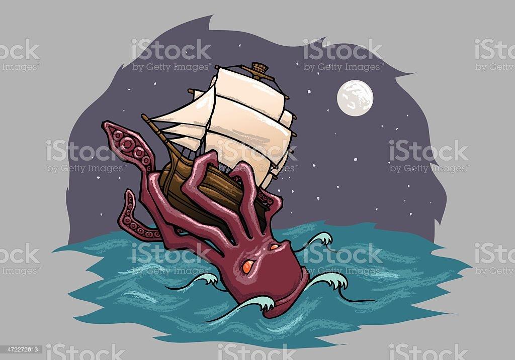 Kraken vector art illustration