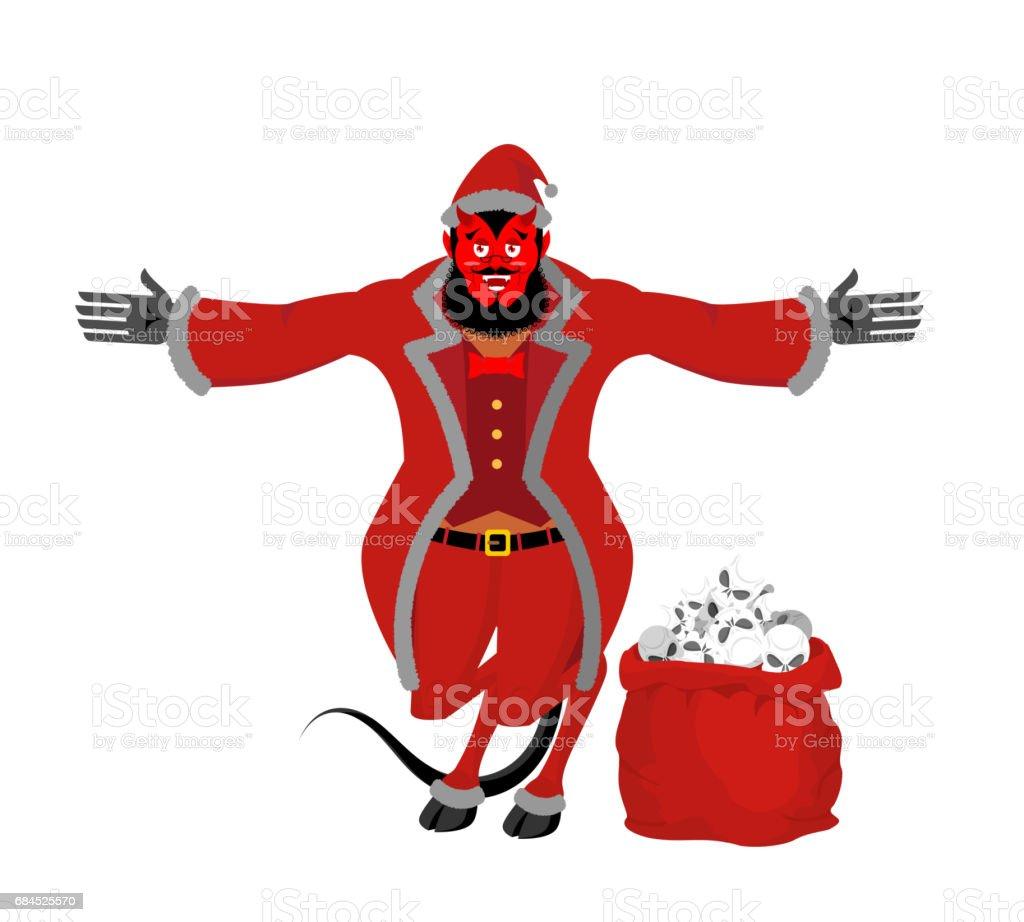 Krampus Satan Santa Claus Red Demon With Horns Christmas Monster For ...
