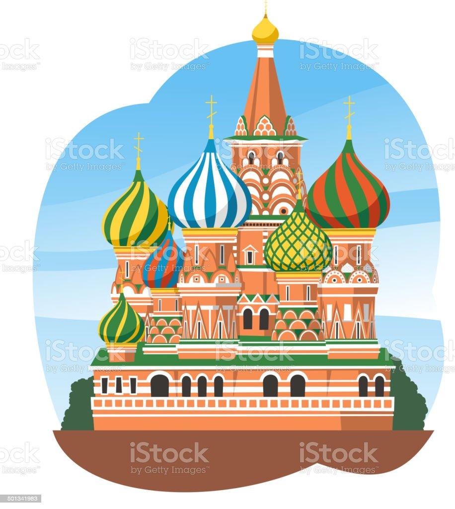 Basilius-Kathedrale, Kreml in Moskau, Russland – Vektorgrafik