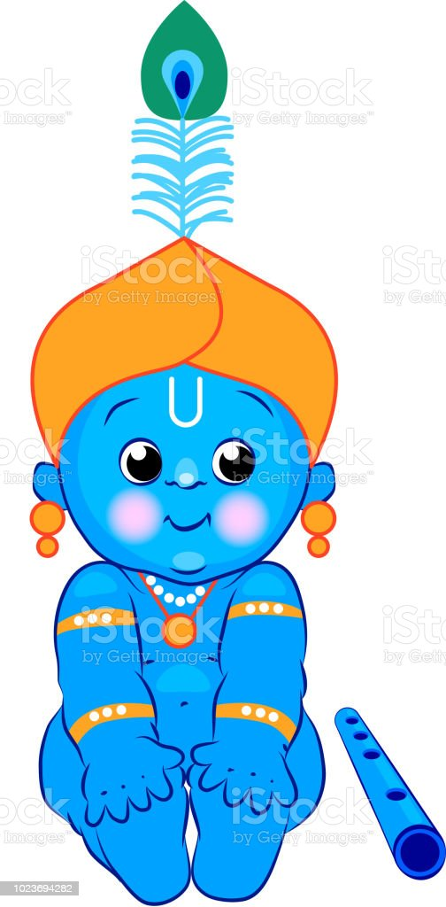 Krishna Happy Janmashtami Blue Baby Lord Krishna For Your Design Indian Celebration Stock Illustration Download Image Now Istock