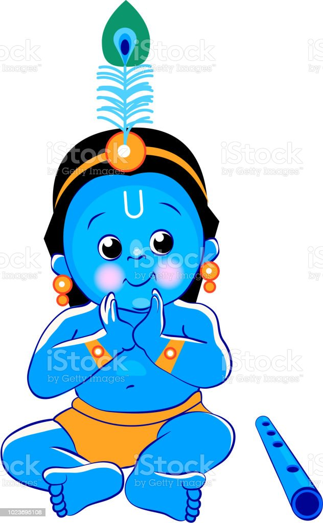 Krishna Happy Janmashtami Blue Baby Lord Krishna For Your Design
