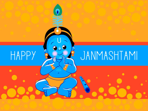 49 Cartoon Of A Baby Krishna Illustrations Royalty Free Vector Graphics Clip Art Istock