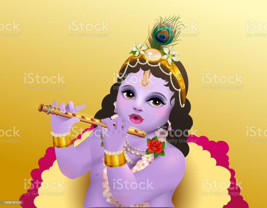 Krishna Janmashtami Indischer Religioser Feiertag Gott Geburtstag