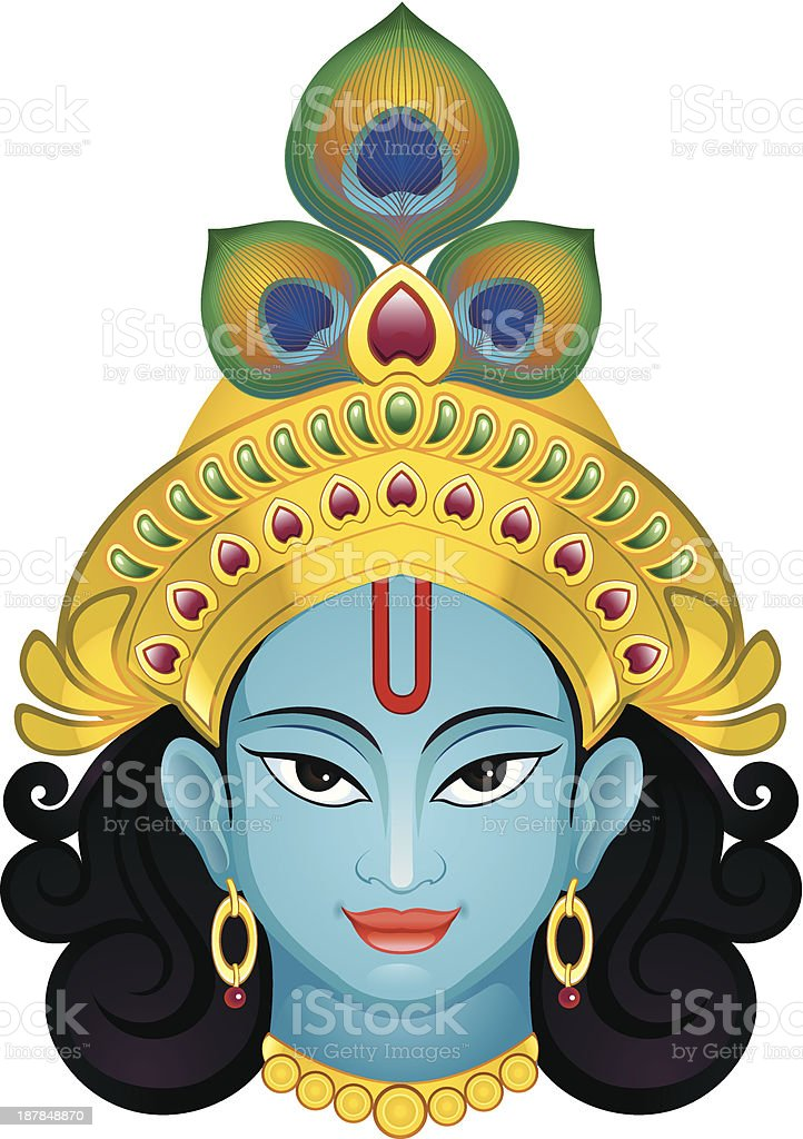 Krishna vector art illustration