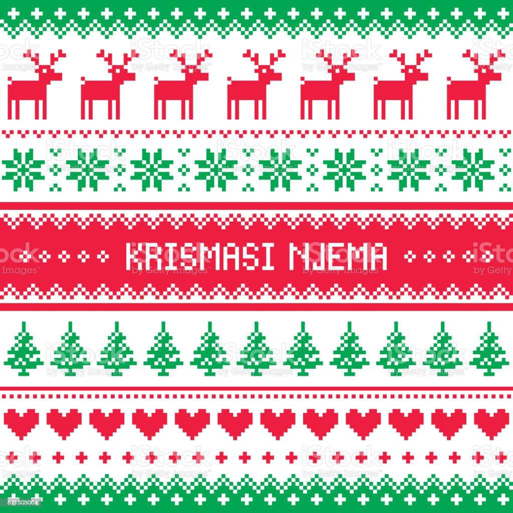 Krismasi njema vector greeting card merry christmas pattern in krismasi njema vector greeting card merry christmas pattern in swahili african language royalty m4hsunfo Choice Image