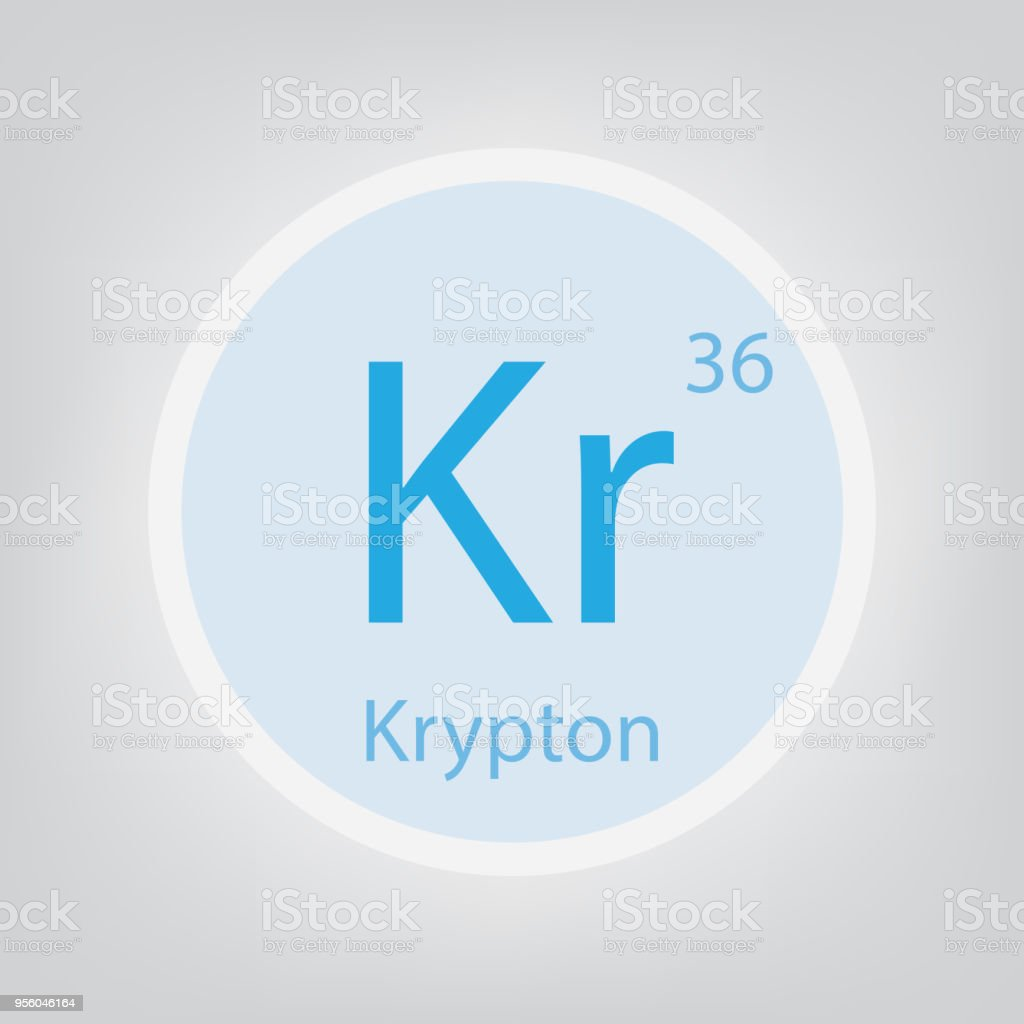 Krypton kr chemical element icon stock vector art more images of internet laboratory periodic table planet earth poland urtaz Choice Image