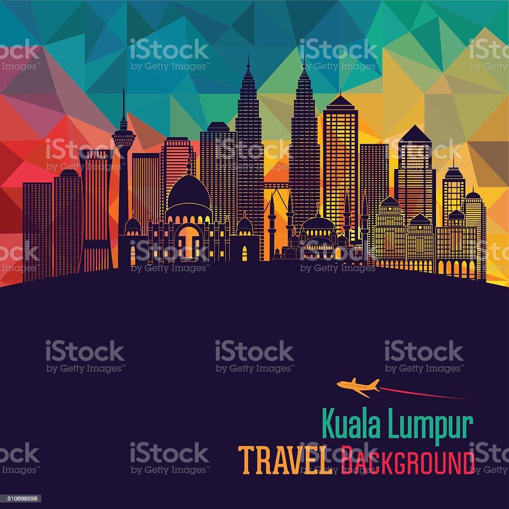 Kuala Lumpur detailed skyline. Vector illustration vector art illustration