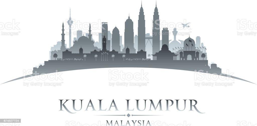 Kuala Lumpur Malaysia city skyline silhouette vector art illustration