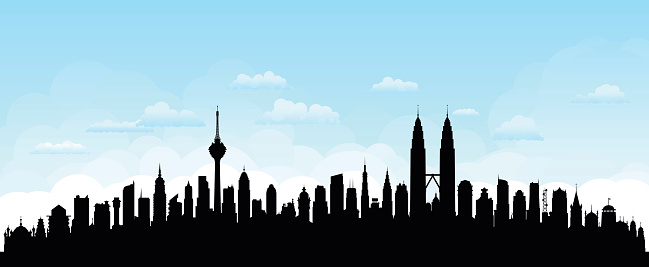Kuala Lumpur, Malaysia (Buildings Are Detailed, Moveable and Complete)