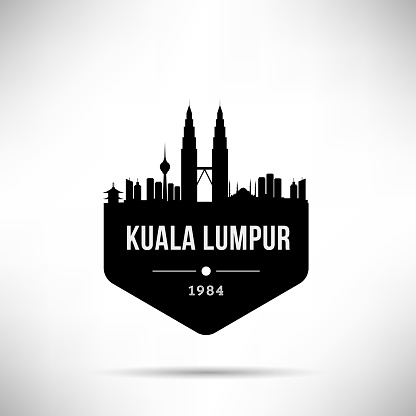 Kuala Lumpur Modern Skyline Vector Template