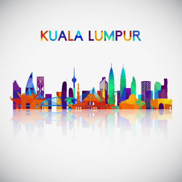 Kuala Lumpur skyline silhouette in colorful geometric style. Symbol for your design. Vector illustration. vector art illustration