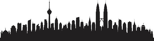 Kuala Lumpur (Buildings Are Highly Detailed, Moveable and Complete) vector art illustration