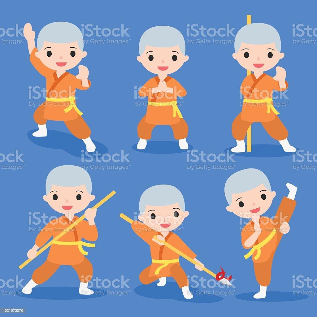 kung fu characters set kung fu characters set – cliparts vectoriels et plus d'images de activité libre de droits