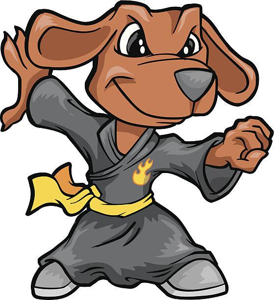 Kung Fu Dog Vector Illustration vector art illustration