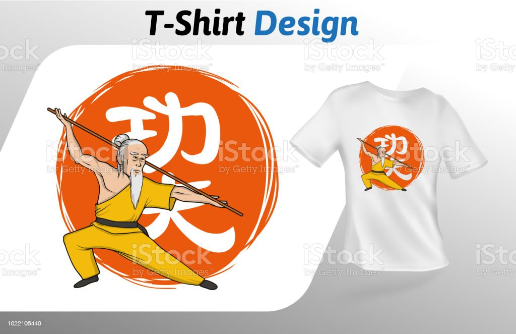 Kung Fu Signification maître de kungfu sur hiéroglyphe chinois signification kung fu
