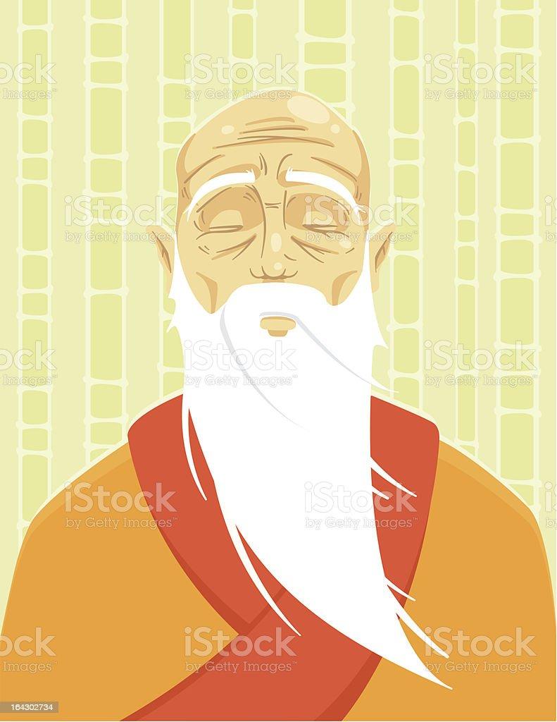 Kung Fu Master royalty-free stock vector art