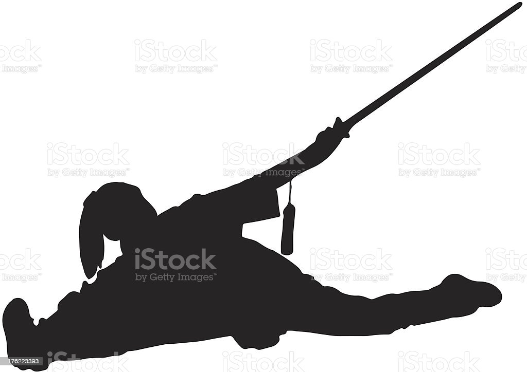 Kung Fu Silhouette royalty-free stock vector art