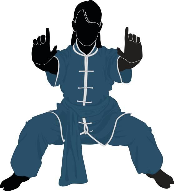Kung Fu vector art illustration