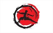 Kung Fu Abstract Circle design