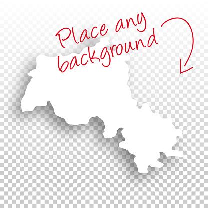 Kurdistan Map for design - Blank Background