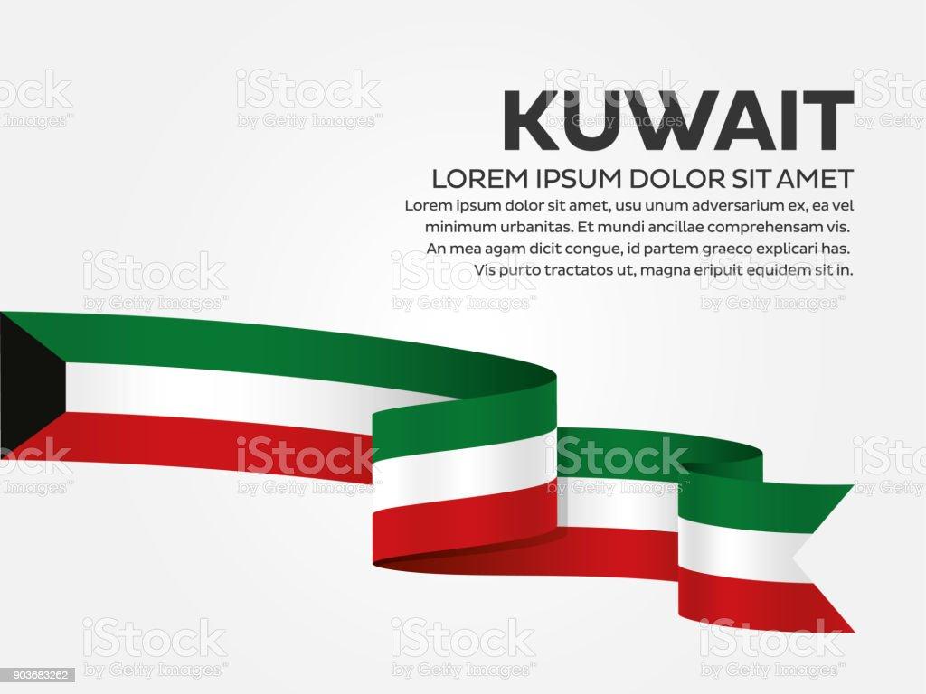Kuwait flag background vector art illustration