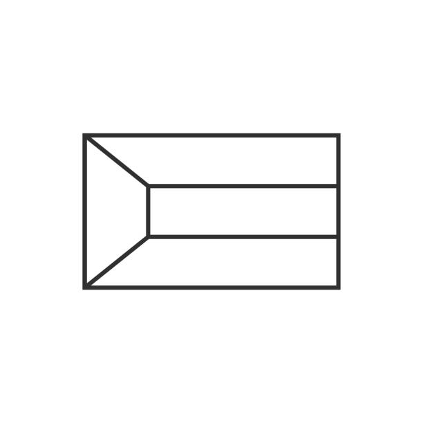 Kuwait flag icon in black outline flat design vector art illustration