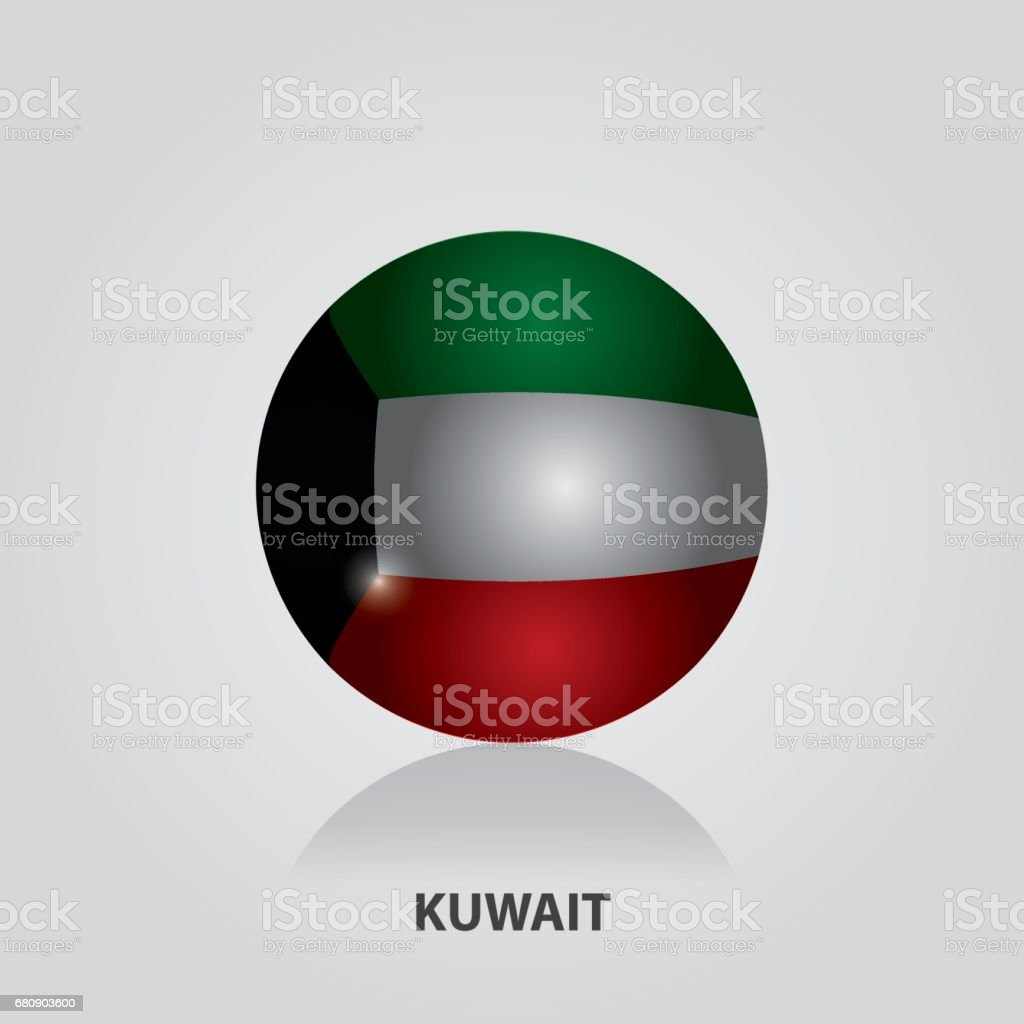 Kuwait - Flags of Asia Vector Illustration royalty-free kuwait flags of asia vector illustration stock vector art & more images of 2017