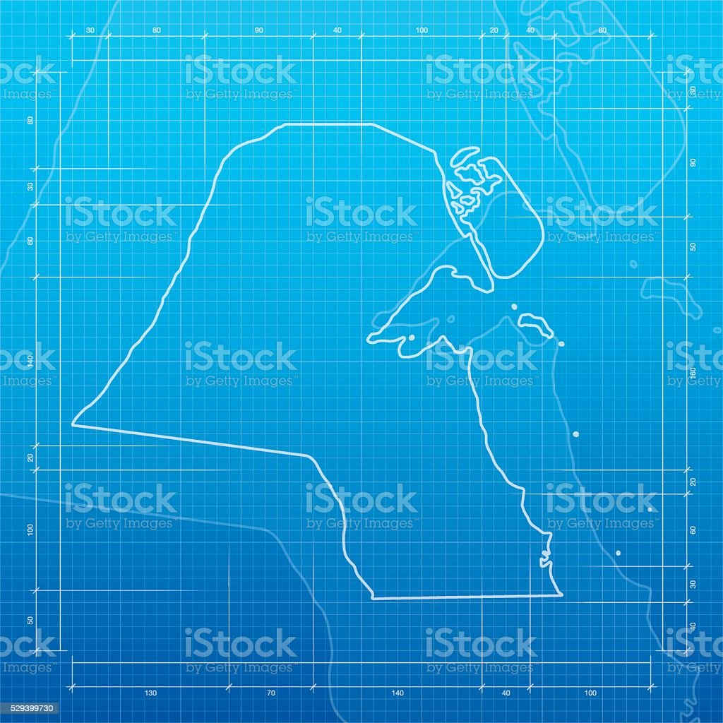 Kuwait map on blueprint background stock vector art 529399730 istock kuwait map on blueprint background royalty free stock vector art malvernweather Gallery